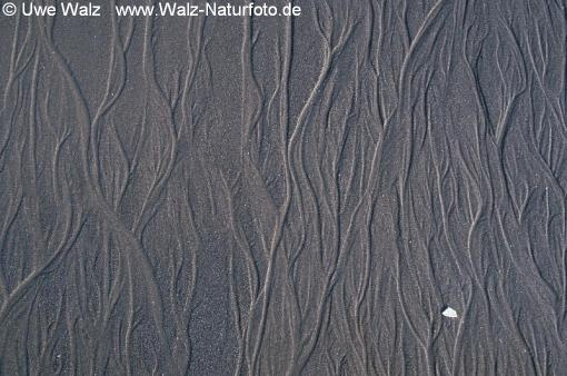 Structures in sand (sea) shore