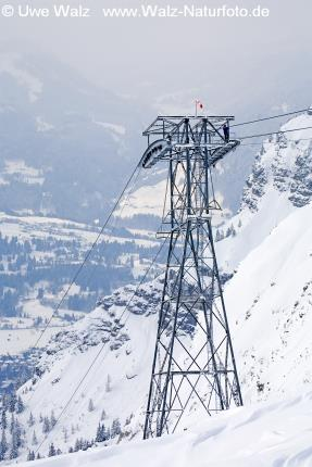 Skiing area Nebelhorn, Allgäu, Germany