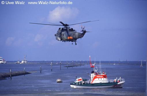 Rescue helicopter & Rescue ship