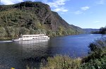 Pleasure steamer on river Mosel,