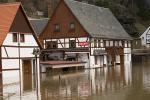 Elbe, Inundation, floding in Rathen