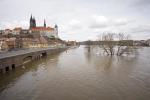 Elbe, Inundation, floding in Meißen