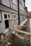 Elbe, Inundation, floding in Dömitz