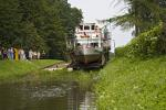 Elblag Canal, By ship over dry land