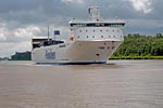 Birka Express goes on the Kiel Canal