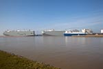 Carcarrier BANGKOK HIGHWAY, BISHU HIGHWAY & Cargo Schiff CITY OF AMSTERDAM