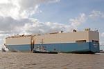 Carcarrier MARINA ACE with Harbour tug  RADBOD