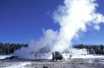 Yellowstone NP, Giant & Bijou Geyser