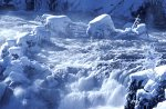 Yellowstone NP, Firehole Falls in Winter