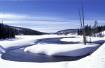 Yellowstone NP, Lewis River in winter