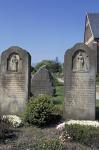 Graveyard on the island Föhr, gravestones